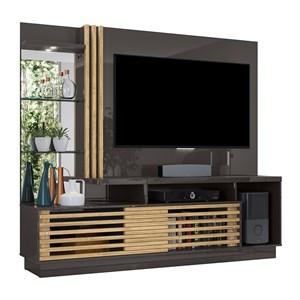 Home Theater Para TV 60 Polegadas Frizz Plus Titanio Carvalho Madetec