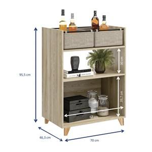 Kit 02 Balcoes Com Cestos Drink Aveiro Be Mobiliario