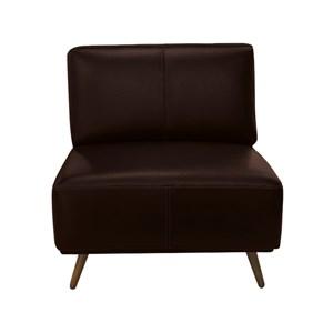 Kit 02 Poltronas Decorativa Braford 2042 Couro Legitimo Leather Brown Toro Bianco