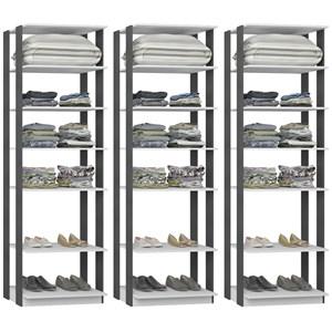 Kit 03 Modulos Para Closet Clothes 1002 Branco Espresso Be Mobiliario