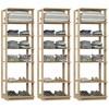 Kit 03 Modulos Para Closet Clothes 1002 Carvalho Mel Be Mobiliario