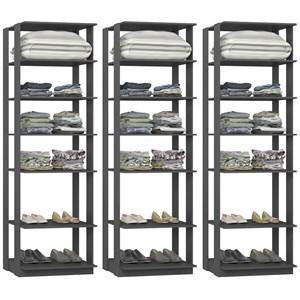 Kit 03 Modulos Para Closet Clothes 1002 Espresso Be Mobiliario