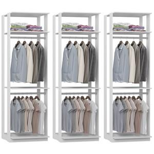 Kit 03 Modulos Para Closet Clothes 1005 Branco Be Mobiliario
