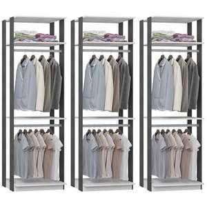 Kit 03 Modulos Para Closet Clothes 1005 Branco Espresso Be Mobiliario