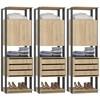 Kit 03 Modulos Para Closet Clothes 1006 Carvalho Mel Espresso Be Mobiliario