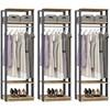 Kit 03 Modulos Para Closet Clothes 1008 Carvalho Mel Espresso Be Mobiliario