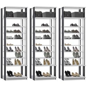 Kit 03 Modulos Sapateira Para Closet Clothes 1009 Branco Espresso Be Mobiliario