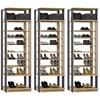 Kit 03 Modulos Sapateira Para Closet Clothes 1009 Carvalho Mel Espresso Be Mobiliario