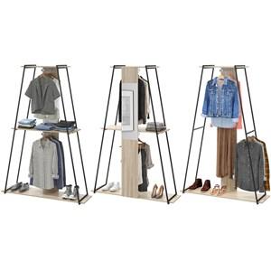 Kit 03 Roupeiros Closet Tog Aveiro Com Espelho Be Mobiliario
