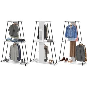 Kit 03 Roupeiros Closet Tog Branco Com Espelho Be Mobiliario