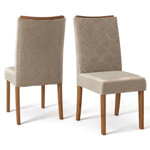 Kit 06 Cadeiras Estofadas Sara Telha Veludo Caqui DJ Moveis
