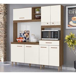 Kit Cozinha 7 Portas Alecrim Evora Rust Off White Nicioli