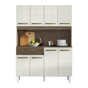 Kit Cozinha Compacta Cleo 8 Portas Ambar Off White ARM Milani Store