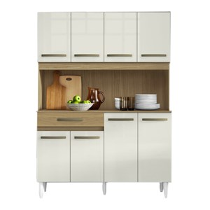 Kit Cozinha Compacta Cleo 8 Portas Atacama Off White ARM Milani Store