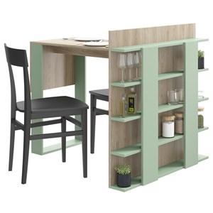 Mesa Com Prateleiras Smart 1002 Aveiro Verde Be Mobiliario