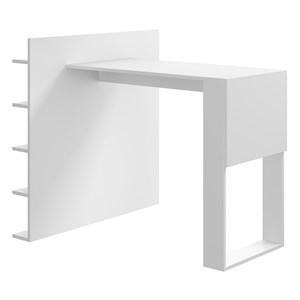 Mesa Com Prateleiras Smart 1002 Branco Be Mobiliario