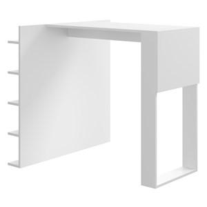 Mesa Com Prateleiras Smart 1003 Branco Be Mobiliario