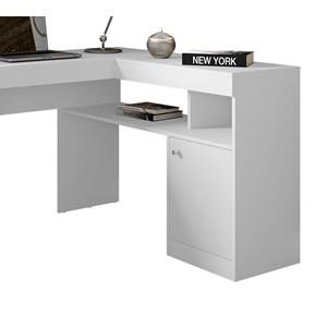 Mesa De Canto Para Computador Nilo Branco Caemmun