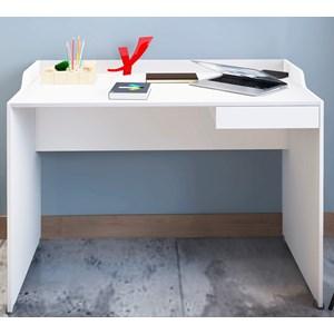 Mesa Escrivaninha 01 Gaveta Slim II Branco Artany