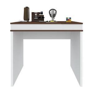 Mesa Escrivaninha Com Tampo Duplo Mind Ipe Branco Artany