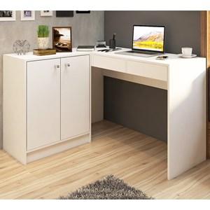 Mesa Escrivaninha De Canto Dubai CE06 Branco Fellicci Moveis