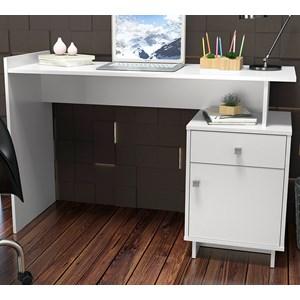 Mesa Escrivaninha Para Computador Lisboa B33 Branco Nova Mobile