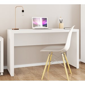 Mesa Escrivaninha Para Escritorio ME4135 Branco Tecno Mobili