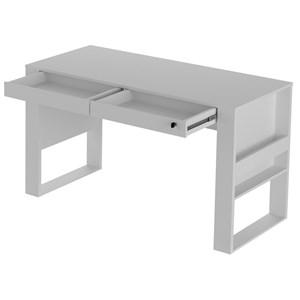 Mesa Escrivaninha Para Escritorio ME4144 Branco Tecno Mobili