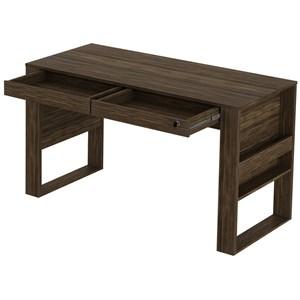 Mesa Escrivaninha Para Escritorio ME4144 Nogal Tecno Mobili
