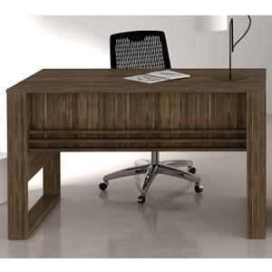 Mesa Escrivaninha Para Escritorio ME4146 Nogal Tecno Mobili