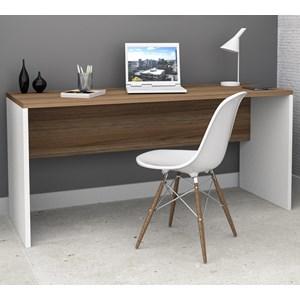 Mesa Escrivaninha Sense MES4006 Castanho Branco APT Milani Store