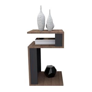 Mesa Lateral Decorativa MES4001 Nogueira Preto APT Milani Store