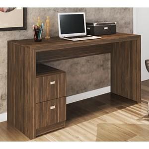 Mesa Para Computador / Escritorio 2 Gavetas ME4130 Nogal Tecno Mobili