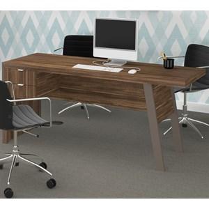 Mesa Para Computador / Escritorio ME4122 Nogal Tecno Mobili