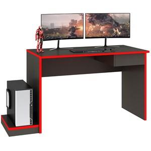 Mesa Para Computador Gamer 01 Gaveta MC02 Grafite Vermelho Fellicci Moveis