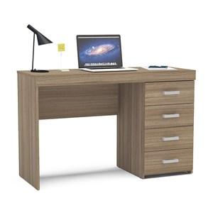 Mesa Para Computador Malta 04 Gavetas Castanho Politorno