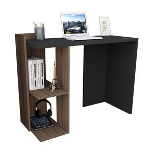 Mesa Para Escritorio Sense ESC4007 Nogueira Preto APT Milani Store