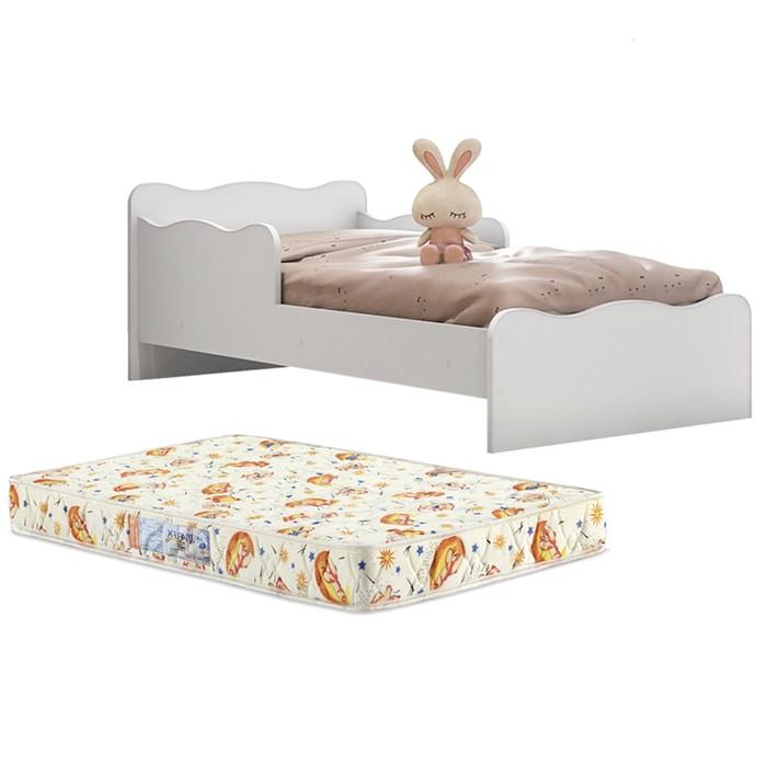 Mini Cama Infantil Soneca Com Colchao Branco Moveis Estrela
