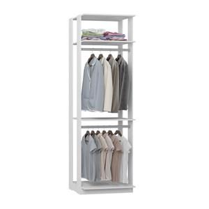 Modulo Para Closet 02 Cabideiros Clothes 1005 Branco Be Mobiliario