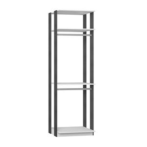 Modulo Para Closet 02 Cabideiros Clothes 1005 Branco Espresso Be Mobiliario