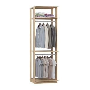 Modulo Para Closet 02 Cabideiros Clothes 1005 Carvalho Mel Be Mobiliario