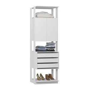 Modulo Para Closet 02 Portas Clothes 1006 Branco Be Mobiliario