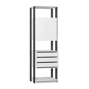 Modulo Para Closet 02 Portas Clothes 1006 Branco Espresso Be Mobiliario