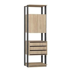 Modulo Para Closet 02 Portas Clothes 1006 Carvalho Mel Espresso Be Mobiliario