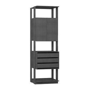 Modulo Para Closet 02 Portas Clothes 1006 Espresso Be Mobiliario