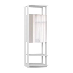Modulo Para Closet 02 Portas Clothes 1007 Branco Com Espelho Be Mobiliario