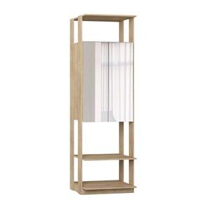 Modulo Para Closet 02 Portas Clothes 1007 Carvalho Mel Com Espelho Be Mobiliario