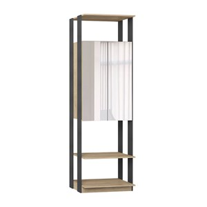 Modulo Para Closet 02 Portas Clothes 1007 Carvalho Mel Espresso Com Espelho Be Mobiliario
