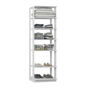 Modulo Para Closet 05 Prateleiras Clothes 1002 Branco Be Mobiliario