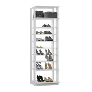 Modulo Sapateira Para Closet 08 Prateleiras Clothes 1009 Branco Be Mobiliario